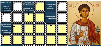 кръстословица за Стефановден